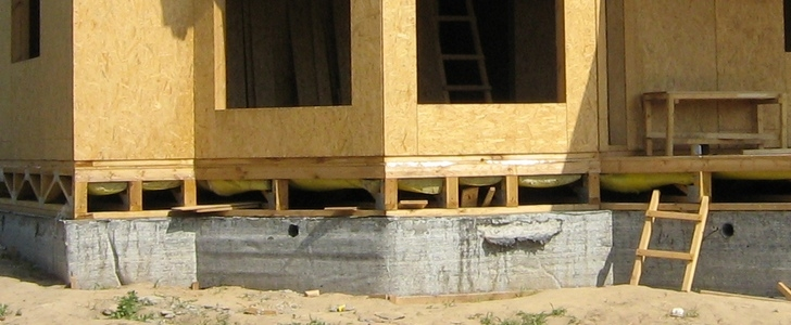 Фундамент для каркасного дома своими руками. Виды фундаментов, расчет